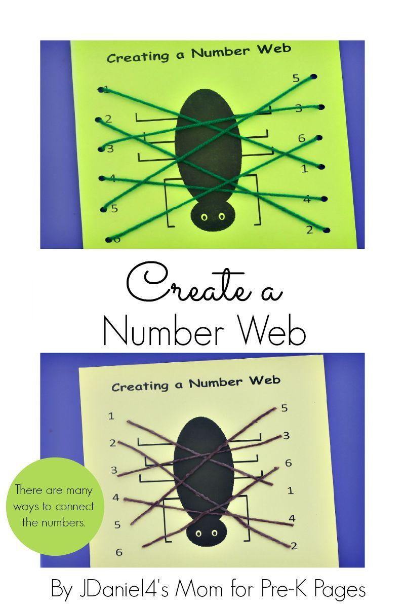 Spider Web Number Matching | Spider webs, Spider and Number
