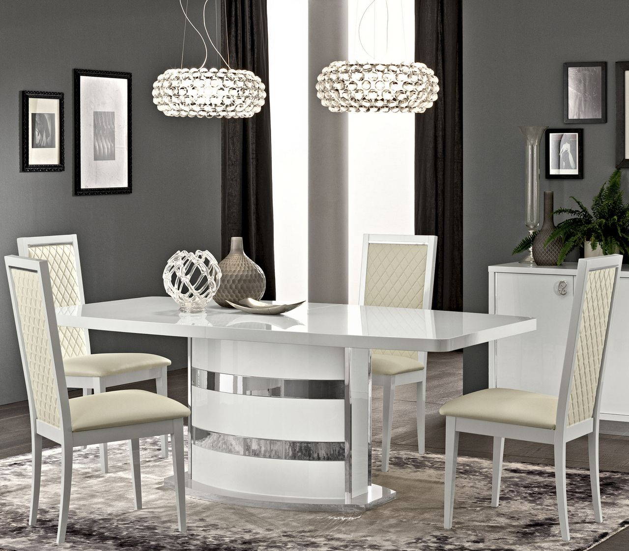 Little Home Store  Roma White High Gloss Extendable Dining Table Beauteous White Gloss Dining Room Table Design Decoration