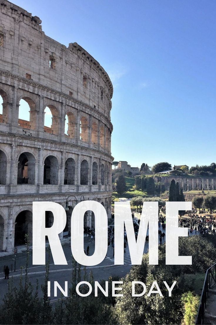 A perfect walking itinerary to visit Rome in one day   Rome in a ...