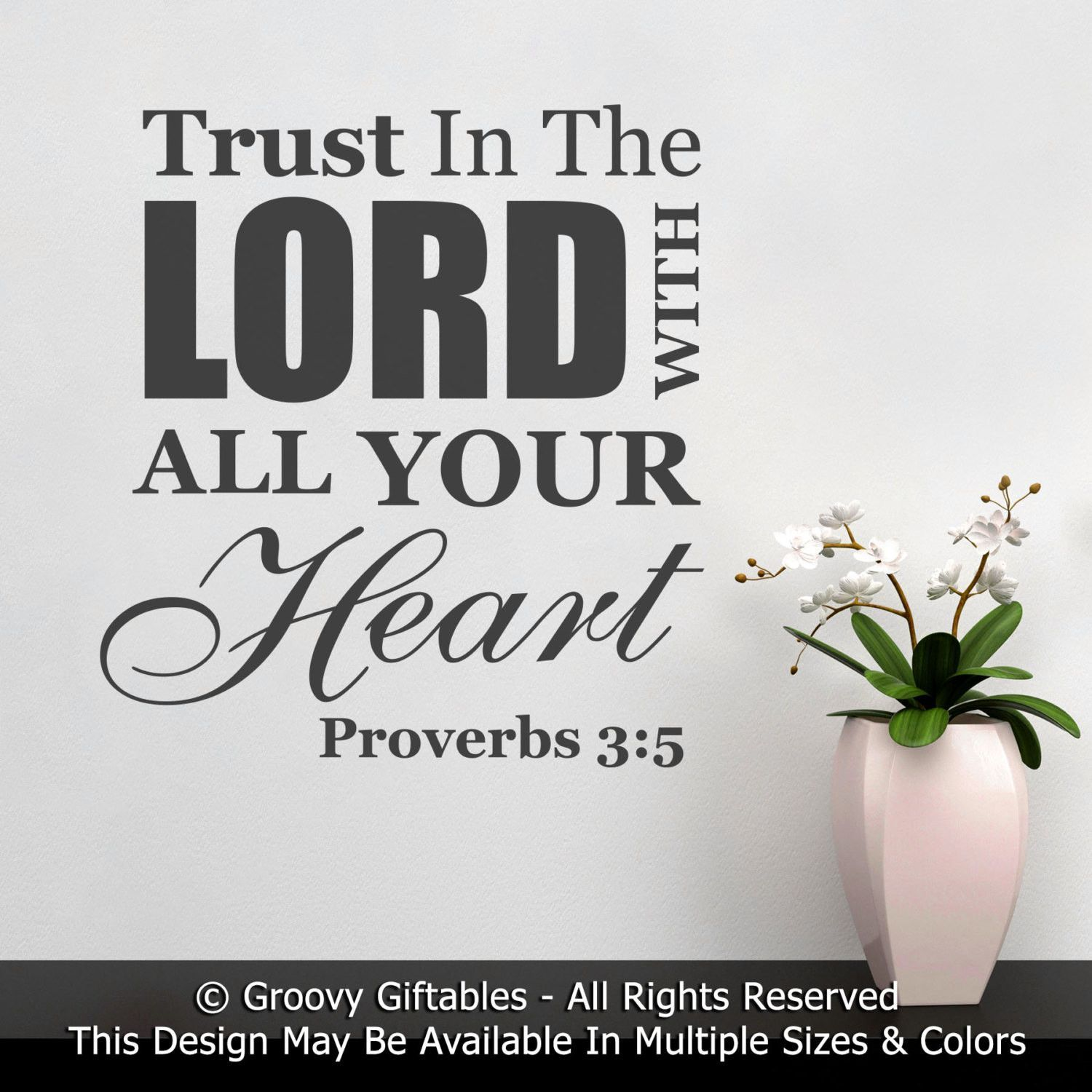 Wall decal trust in the lord with all your heart proverbs bible wall decal trust in the lord with all your heart proverbs bible verse word art negle Images