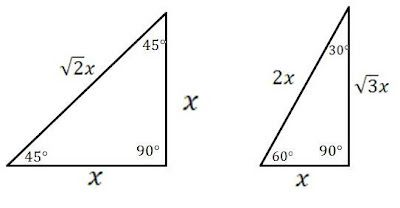 Mathcounts Notes Special Right Triangles 30 60 90 And 45 45 90