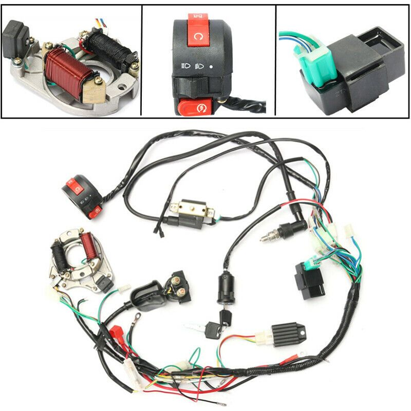 eBay Advertit) CDI Wire Harness Coil Solenoid Rectifier ... on