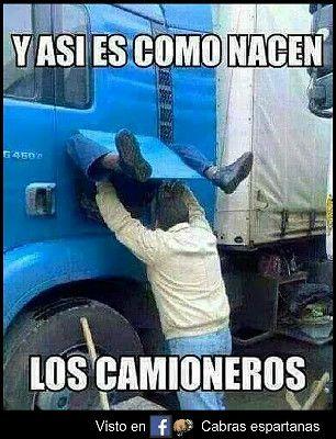 Así Nacen Los Camioneros Funny Frases De Camioneros Y