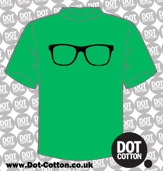 Geek Glasses T-shirt from Dot Cotton.  Available in your choice of colours.