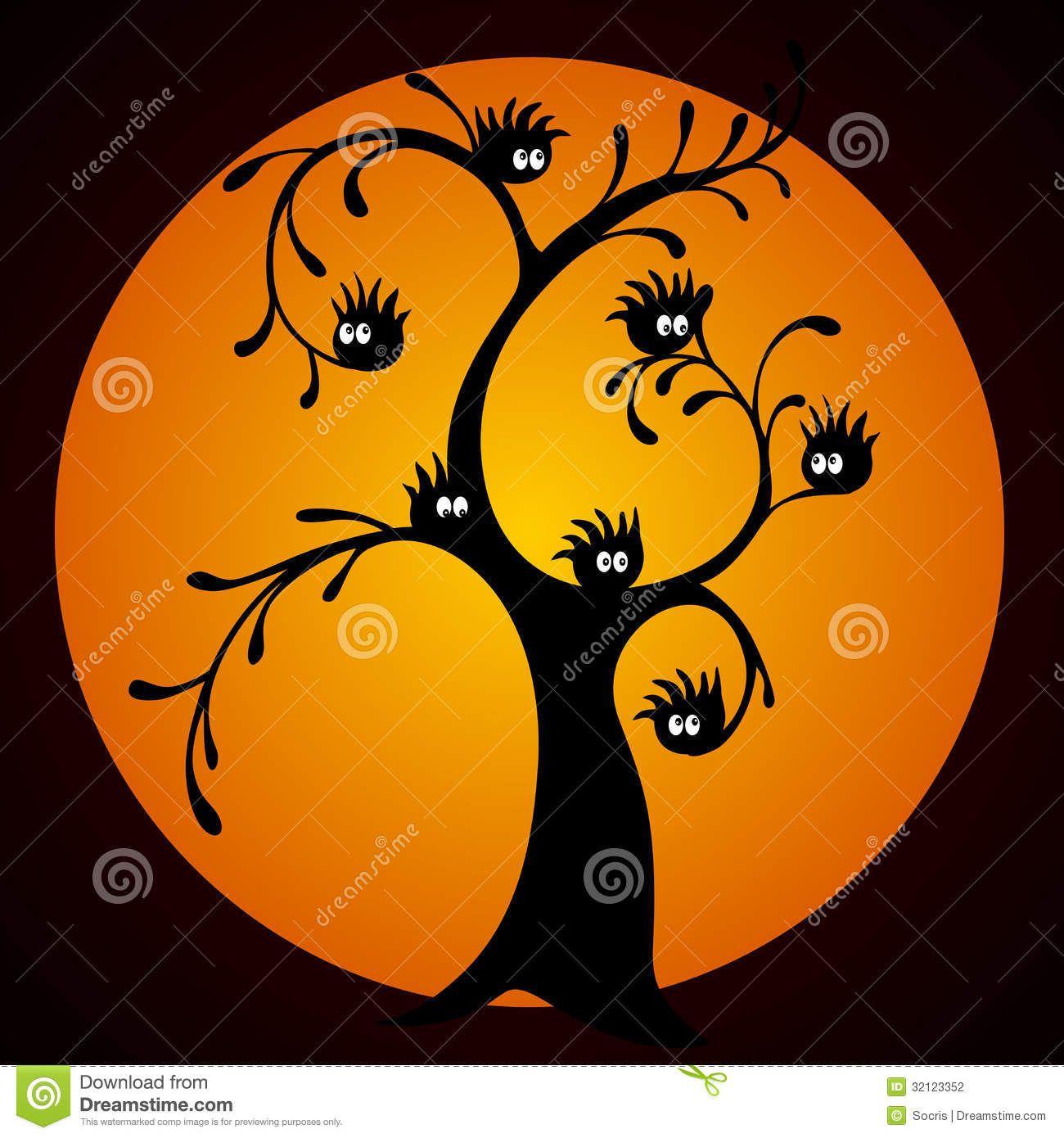 Árbol de Halloween ilustración del vector. Ilustra