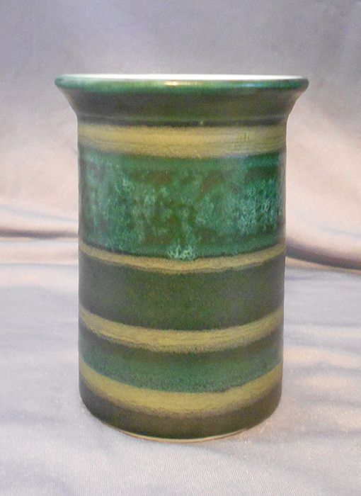 Wheel-Thrown stripey pot