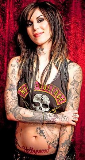 Kat Von D Love The Hair Style And Color La Ink Kat Von D Tattoos