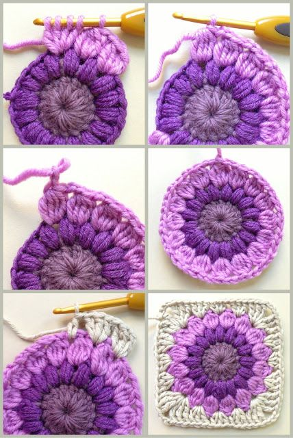 Genial Me Gusta Crochet Pinterest Square Patterns Granny