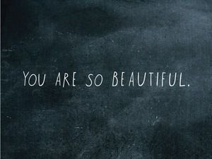Put this reminder just where you (or someone you love) most need(s) it. :: You Are So Beautiful Decal by Shanna Murray