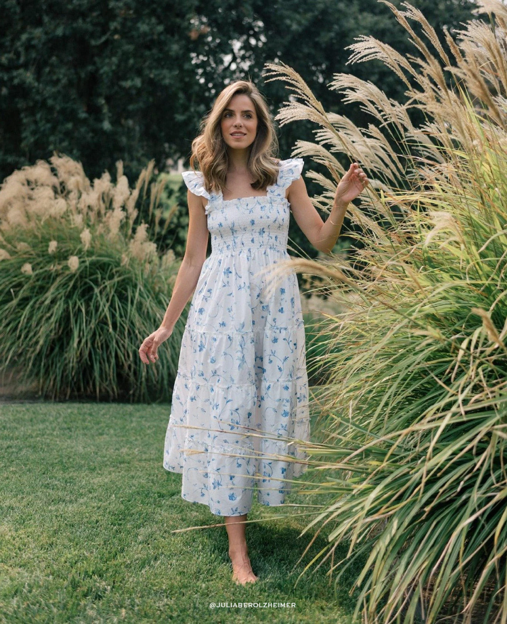The Ellie Nap Dress Hill House Home Dresses Tiered Midi Skirt Inspired Dress [ 1232 x 1000 Pixel ]