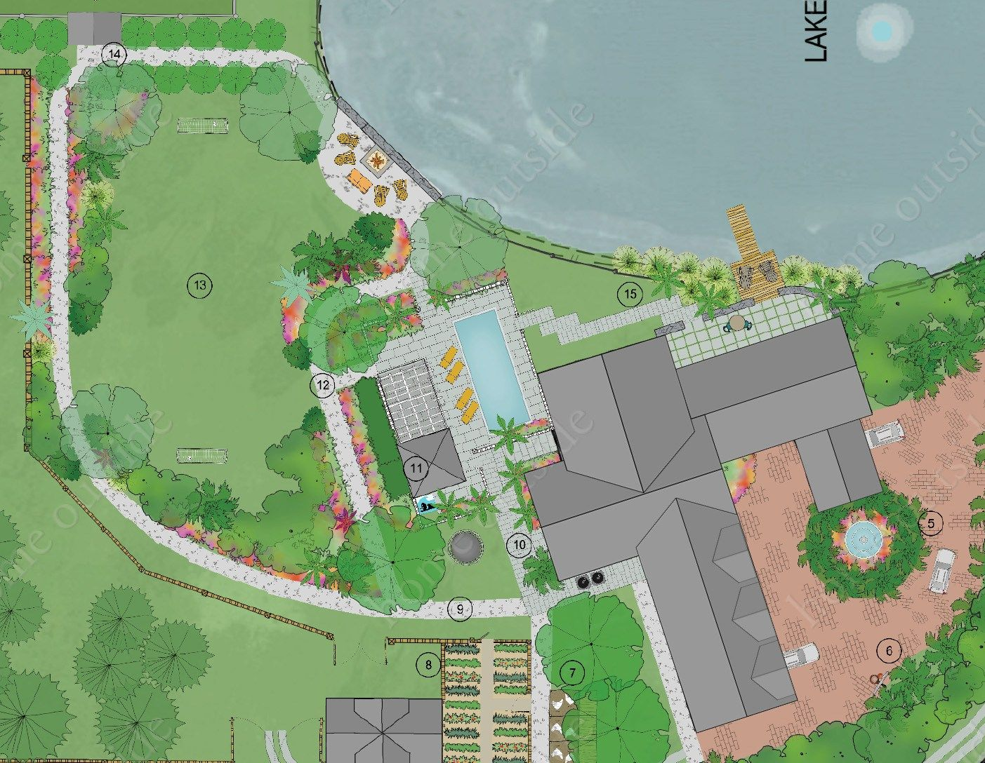 Large Property Master Plan Florida Landscape Design Services