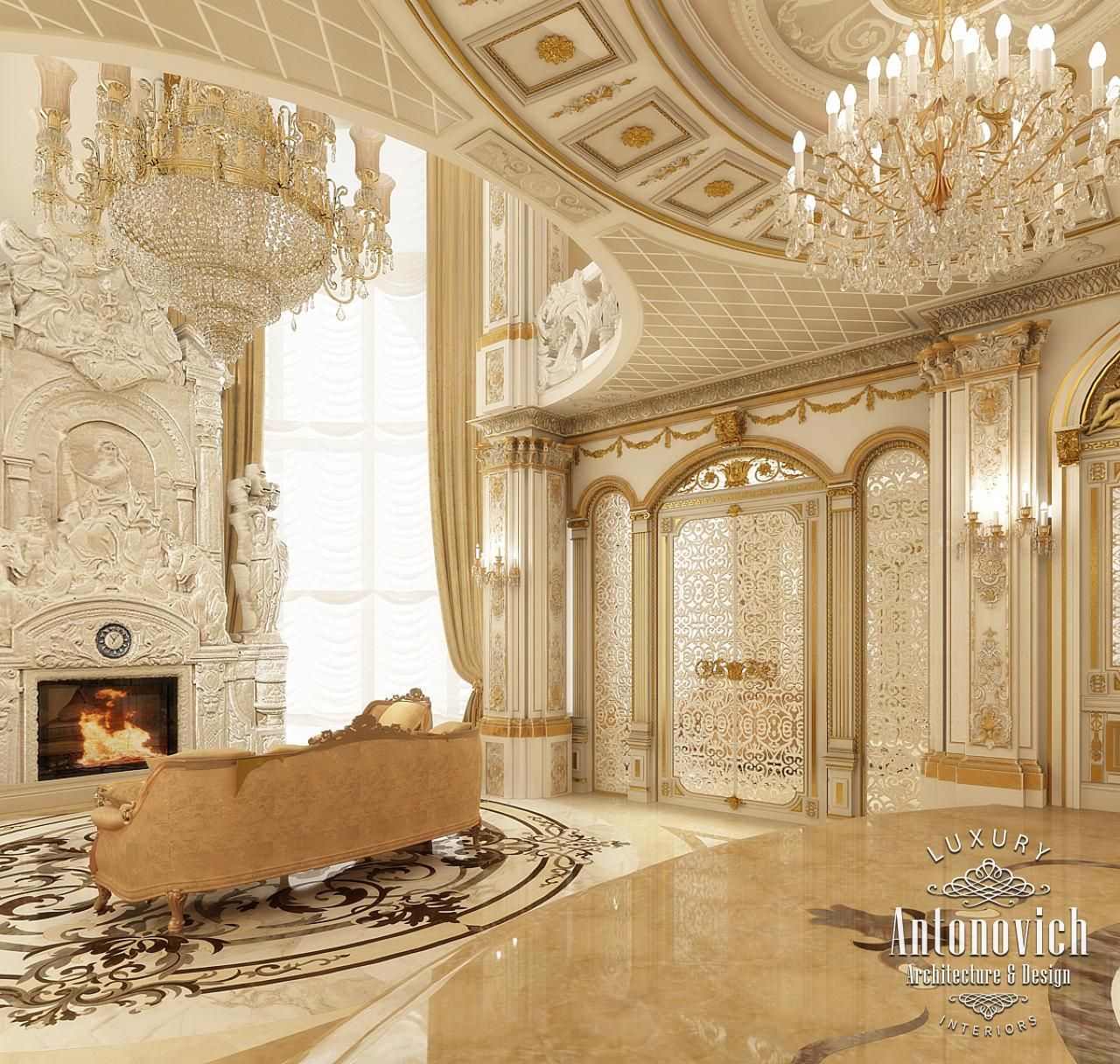 Private palace dubai interior design villa interior for Villa interior design dubai