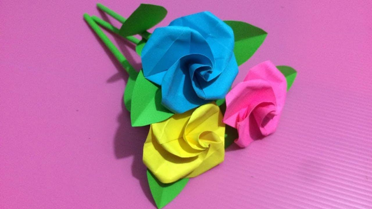 How To Make Small Rose Flower With Paper Making Paper Flowers Step