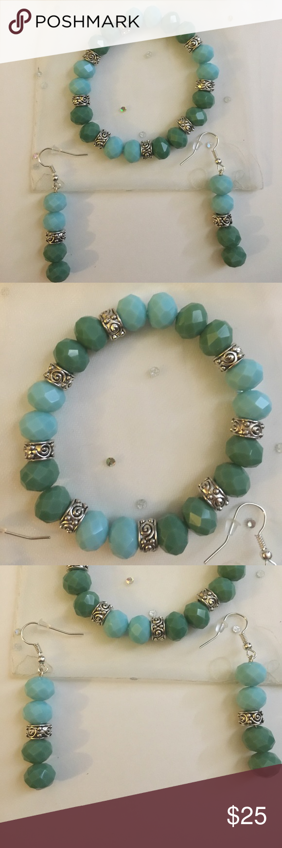 Handmade Bracelet set Handmade. Beads are glass not plastic. Great ...