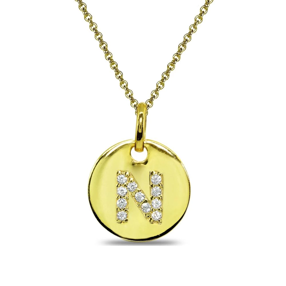 Wear This Stylish Pendant Necklace To Enhance Your Daytime And Evening Attire This Stunnin Personalized Pendant Necklace Personalized Pendant Trendy Necklaces