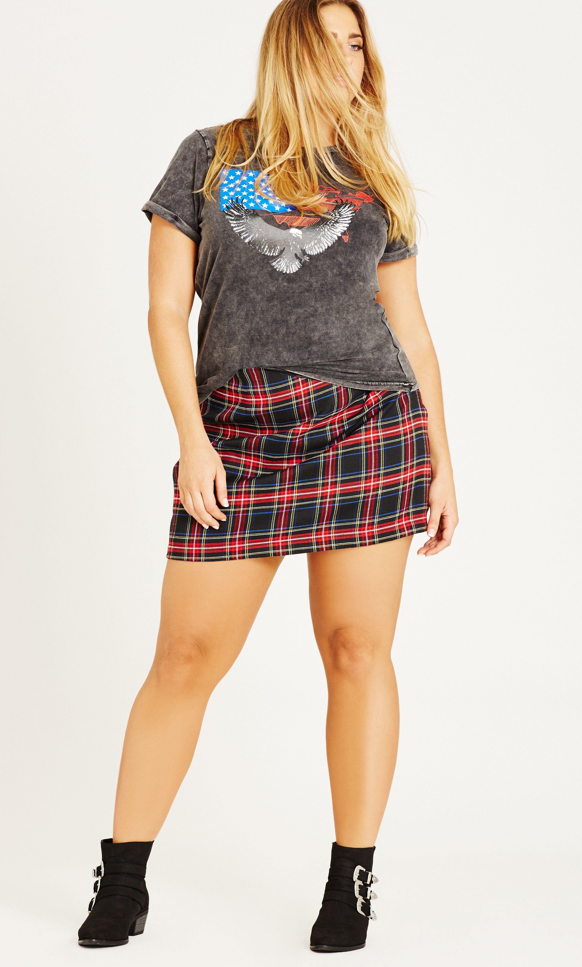 ef8617d391 Shop Women's Plus Size 90's Girl Skirt - Black - Clearance | City Chic USA