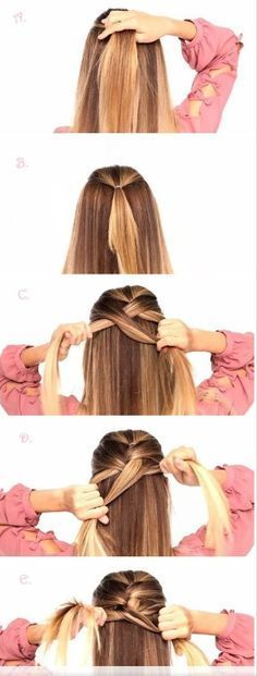 15 Cute 5Minute Hairstyles for School en 2019 Coupe