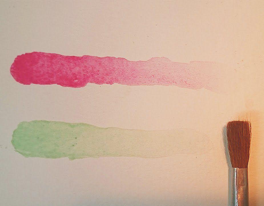 تعليم الرسم اساسيات الرسم بالالوان المائية تأثير التدرج نحو الشفافية رسم اساسيات الوان مائية تدرج Art Lipstick Beauty