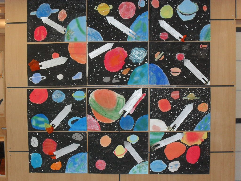 Planets Space Art Lesson