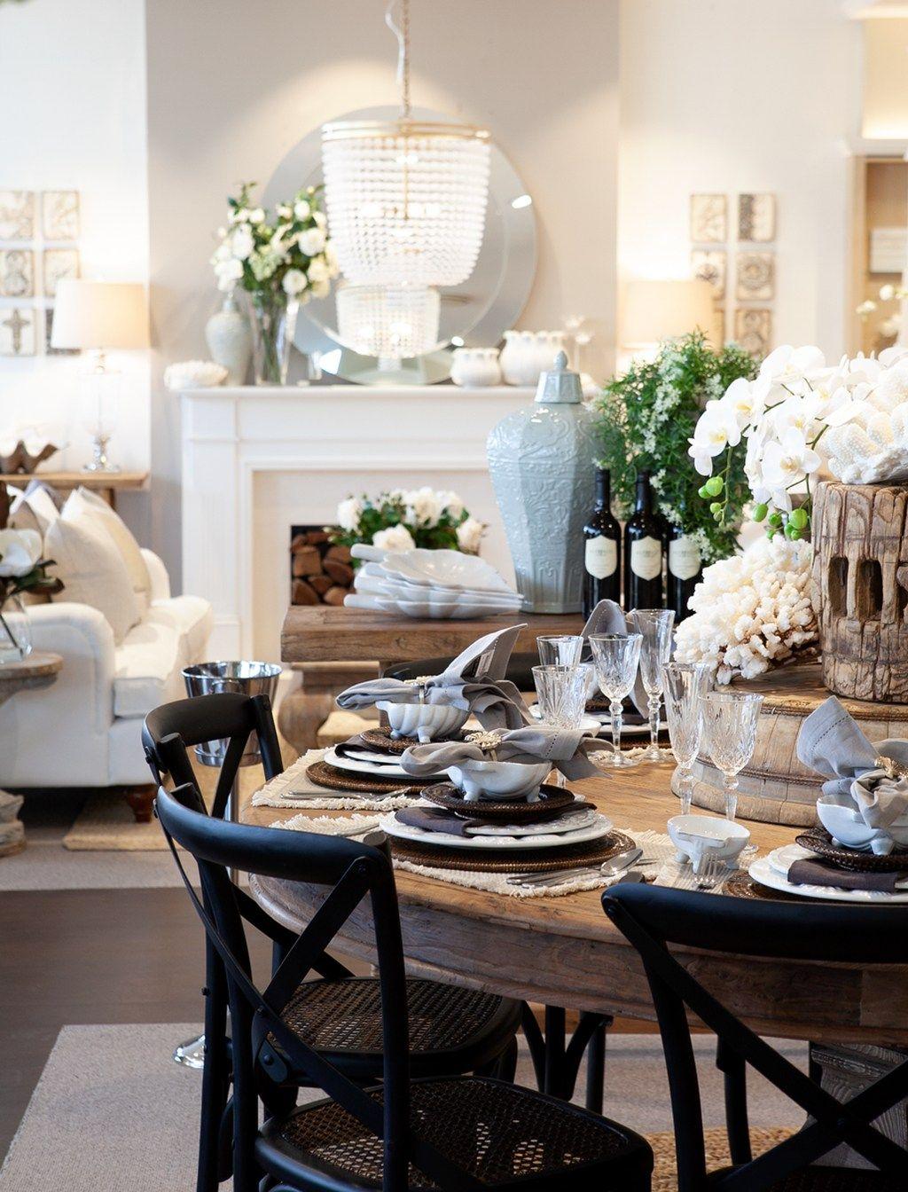 50 Amazing Nautical Dining Room Decor Ideas   Black round ...