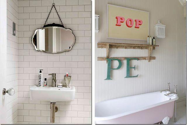 Shabby chic interiors vasca da bagno co shabbychicbedrooms