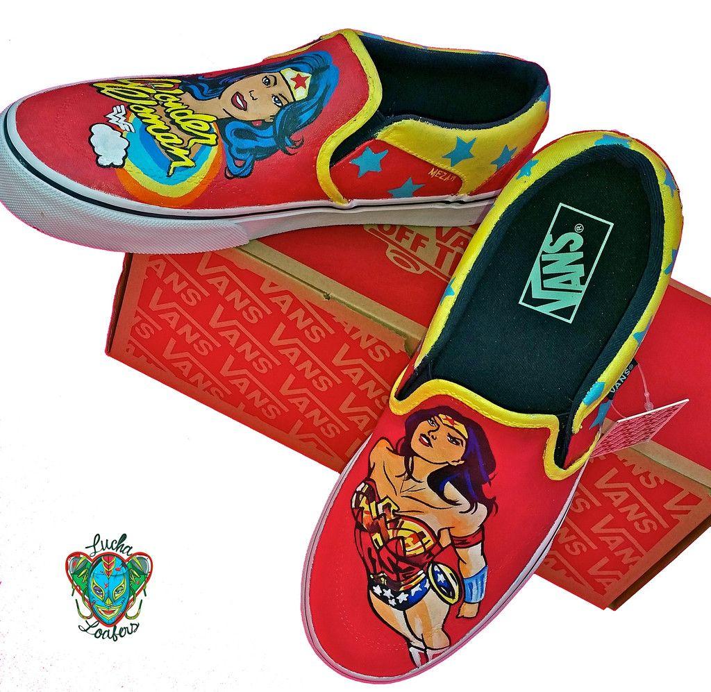 9efeea49a82fa5 Wonder Woman Red Custom Vans