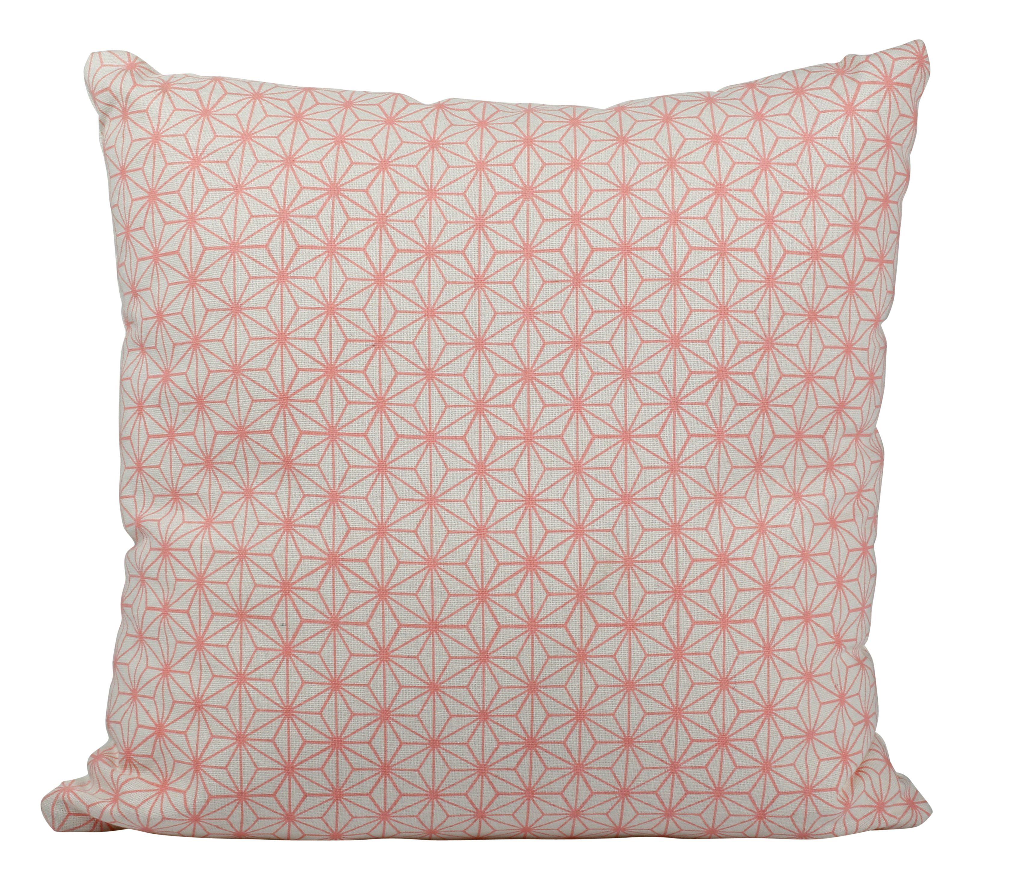 coussin roso boheme chic rose/blanc - coussins but | déco pastel