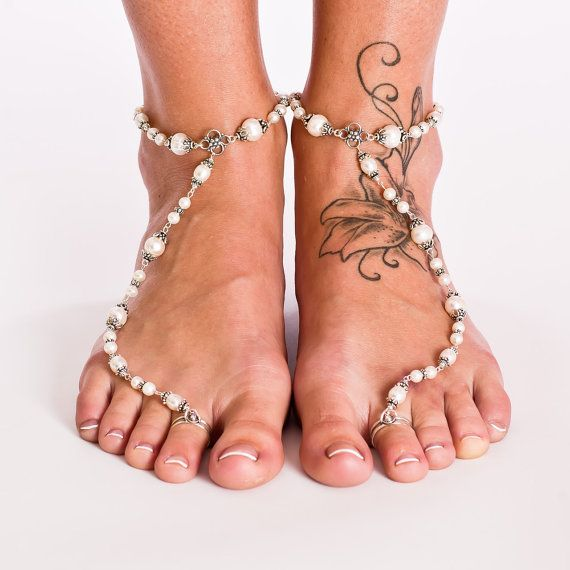 I was looking for wedding sandals and saw this- love the tattoo placement! Up higher than I usually see.
