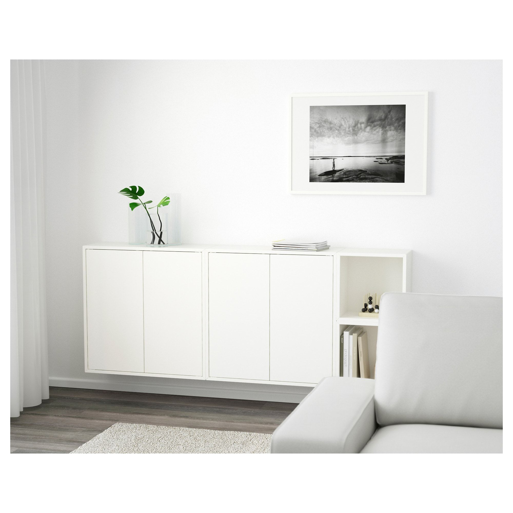 Eket Wall Mounted Cabinet Combination White Length 27 Find It Here Ikea Ikea Wall Cabinets Ikea Wall Storage Wall Mounted Cabinet