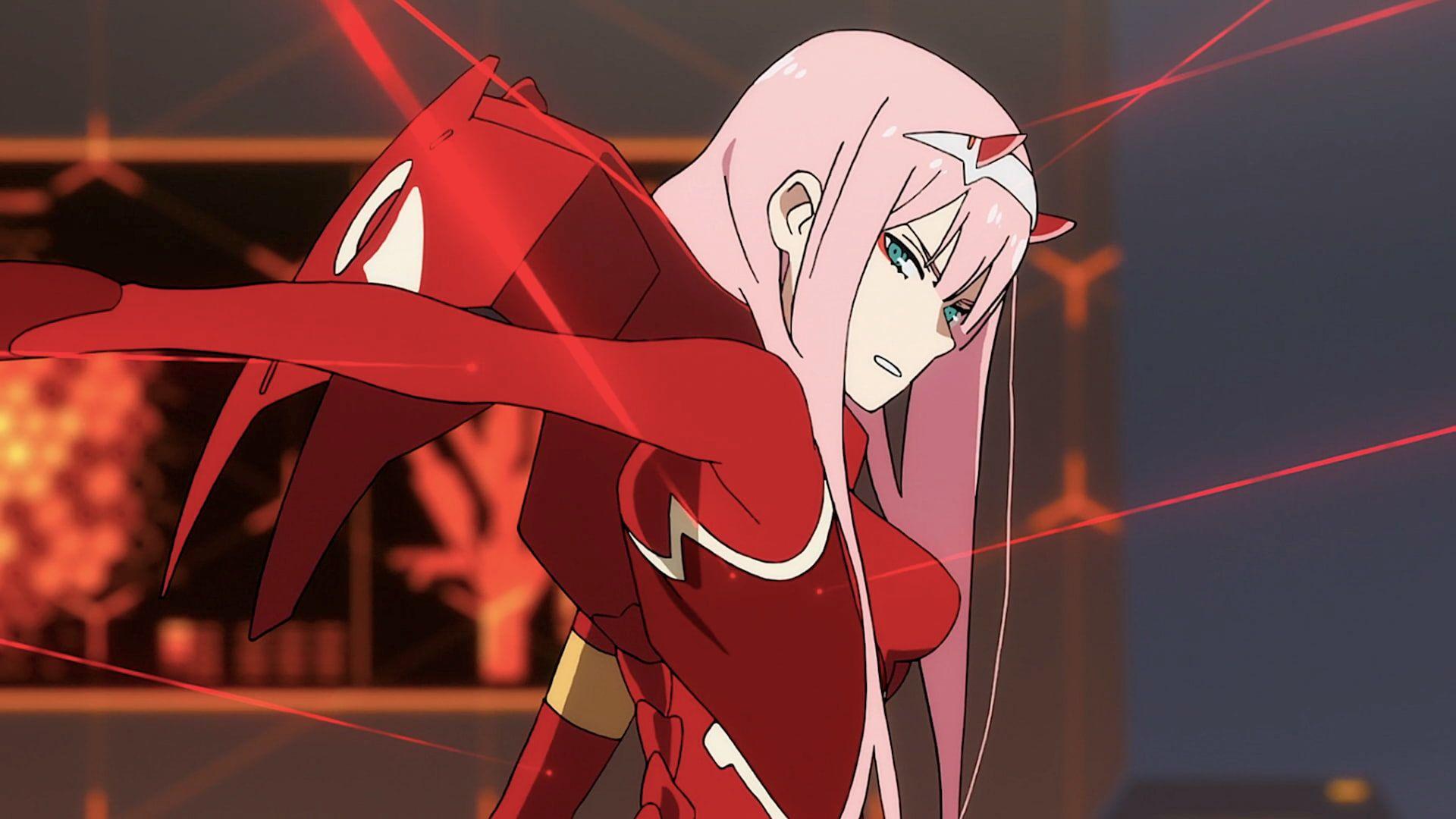 Digital Art Artwork Pink Hair Green Eyes Darling In The Franxx Zero Two Darling In The Franxx Code 002 02 Darling In The Franxx Zero Two Best Anime Shows