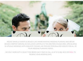 A unique design with a nice wedding planner website layout Good