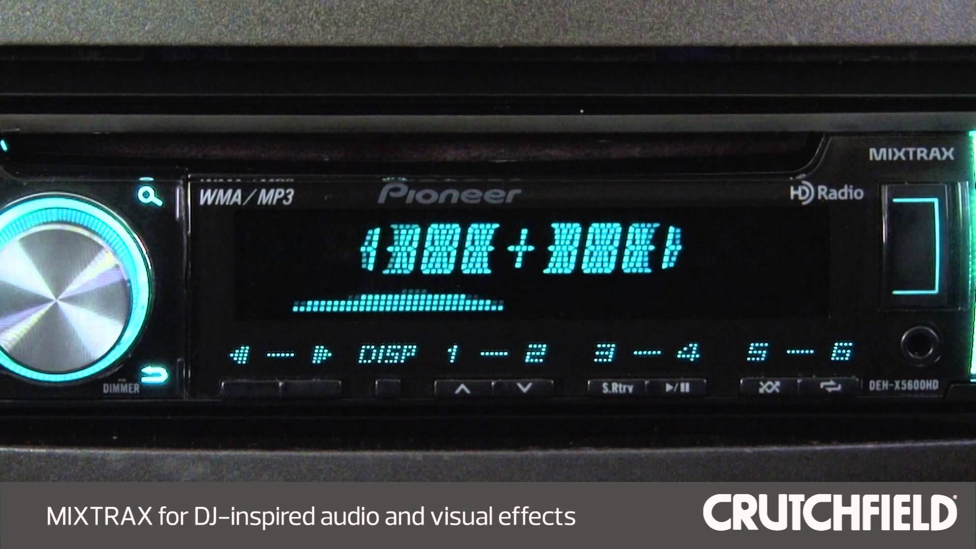 Pioneer Deh X5600hd Car Stereo Display And Controls Demo Sony Audio Manual Crutchfield Video Caraudio Carreceiver