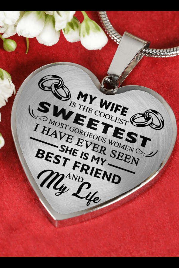 My Wife Gorgeous From Husband Luxury Necklace Birthday