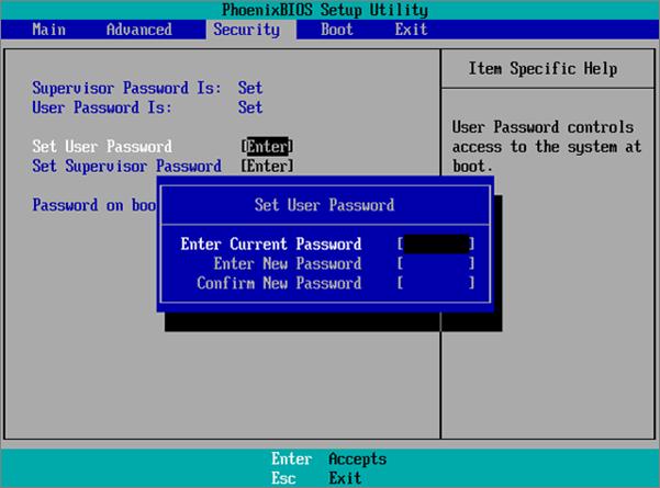 acer password