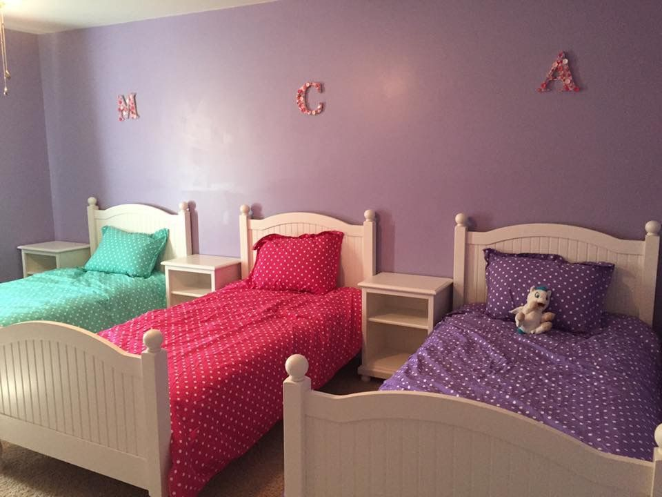Triplet Bedroom Shared Girls Bedroom Shared Girls Room Bedroom Design