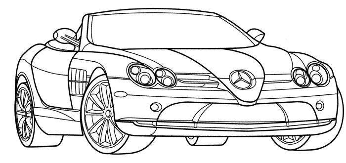 Mercedes Slr Mclaren Coloring Page Cars Coloring Pages Race Car