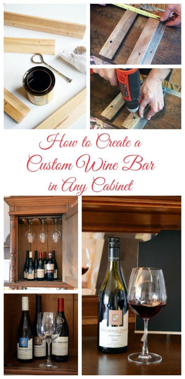 How to Build a Custom Wine Bar | DIY | Pinterest | Wine bars and Wine