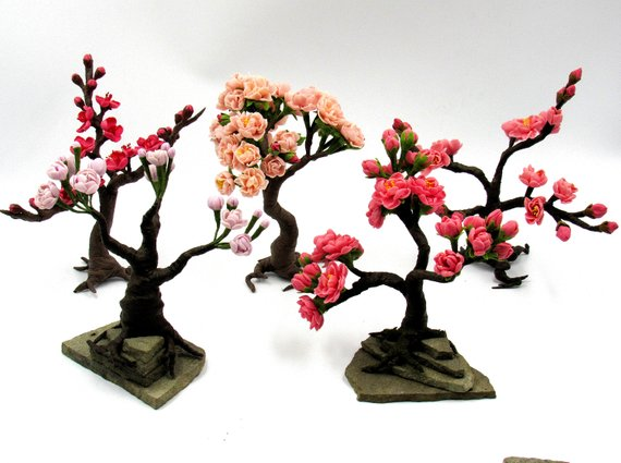 Artificial Tree With Buddha Statue Moss Tree Mothers Day Gift Etsy Cherry Blossom Bonsai Tree Bonsai Tree Artificial Tree