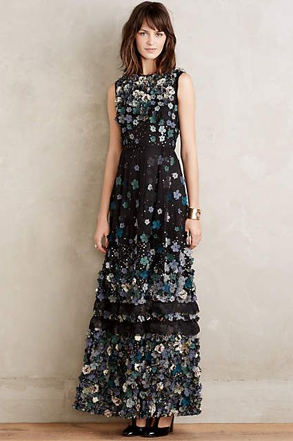 Ishika Floral Gown -  anthroregistry  c20e2a6d8