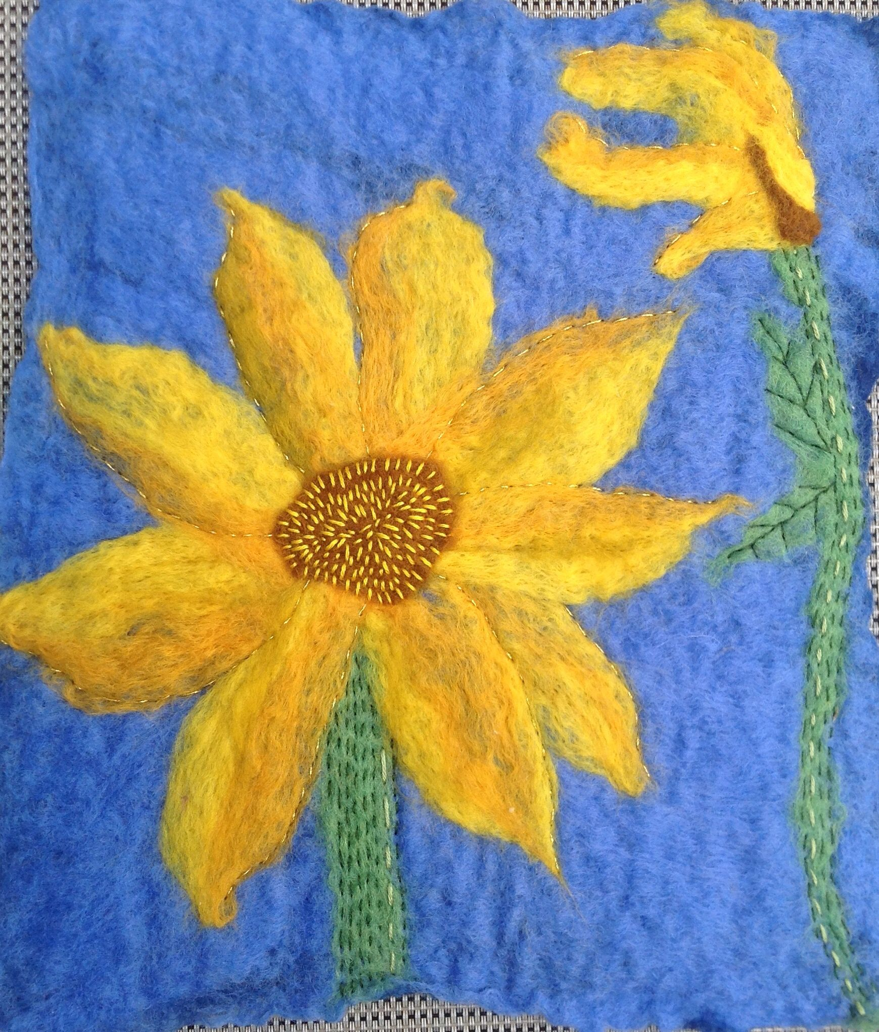 Sunflowers for glenna wet felt wet felt pinterest sunflowers