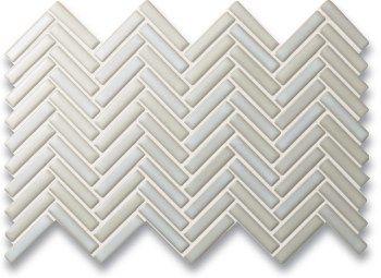 Rudiment Herringbone Herringbone Winter White Mosaic