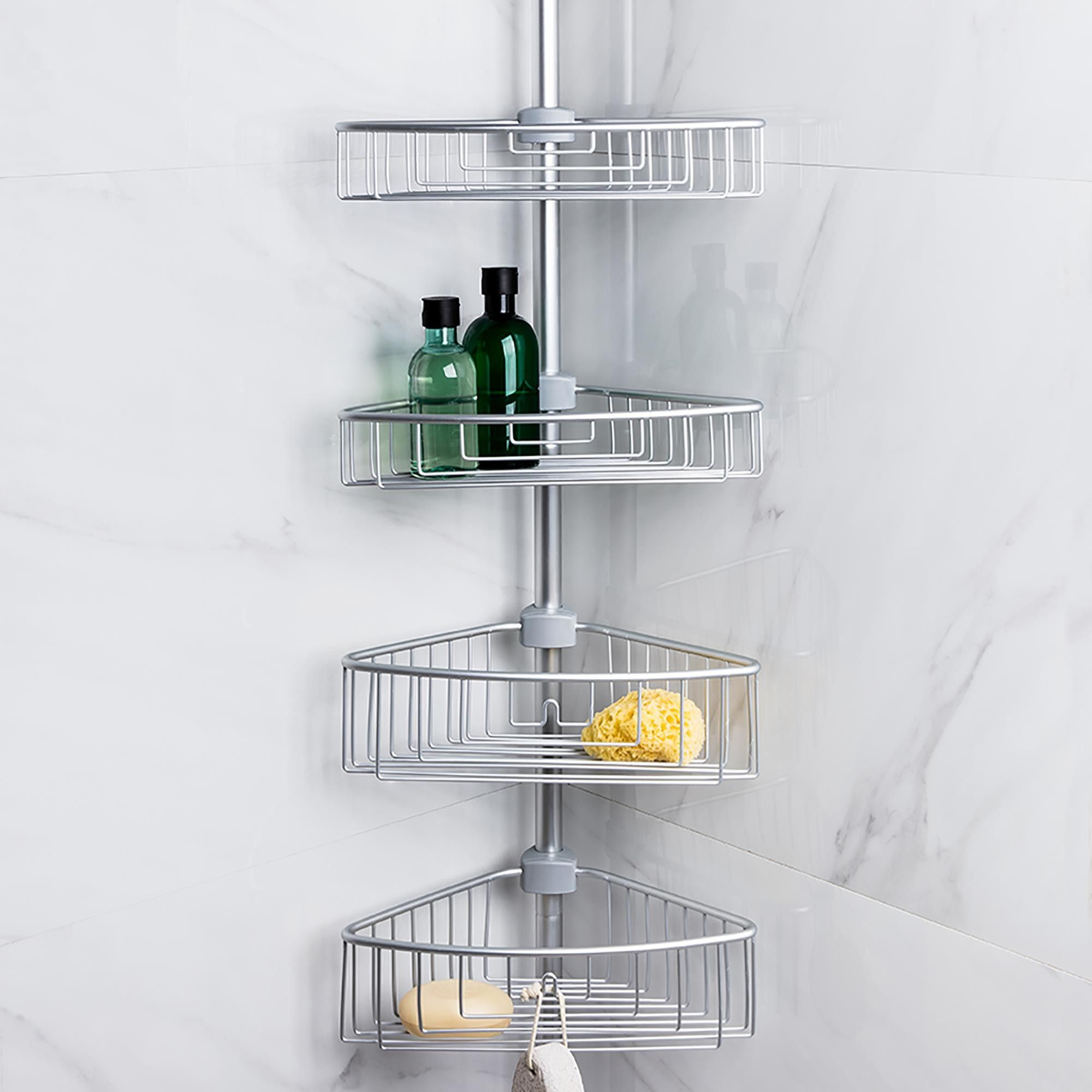 Ksp Aluminum Paloma Tension Bathtub Corner Shelf With Images