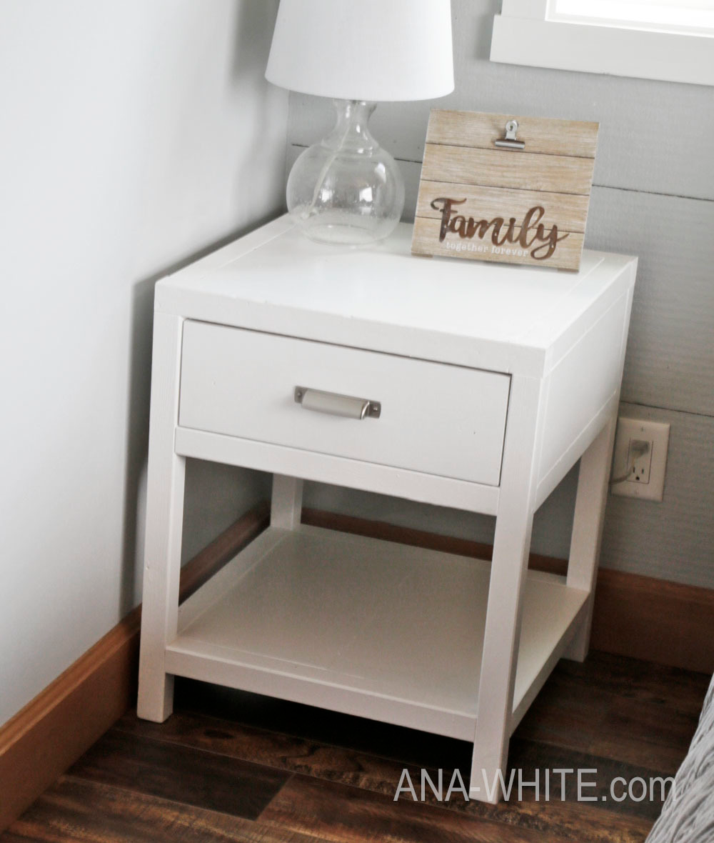 Simple Modern Bedside Table in 2020 (With images) Modern