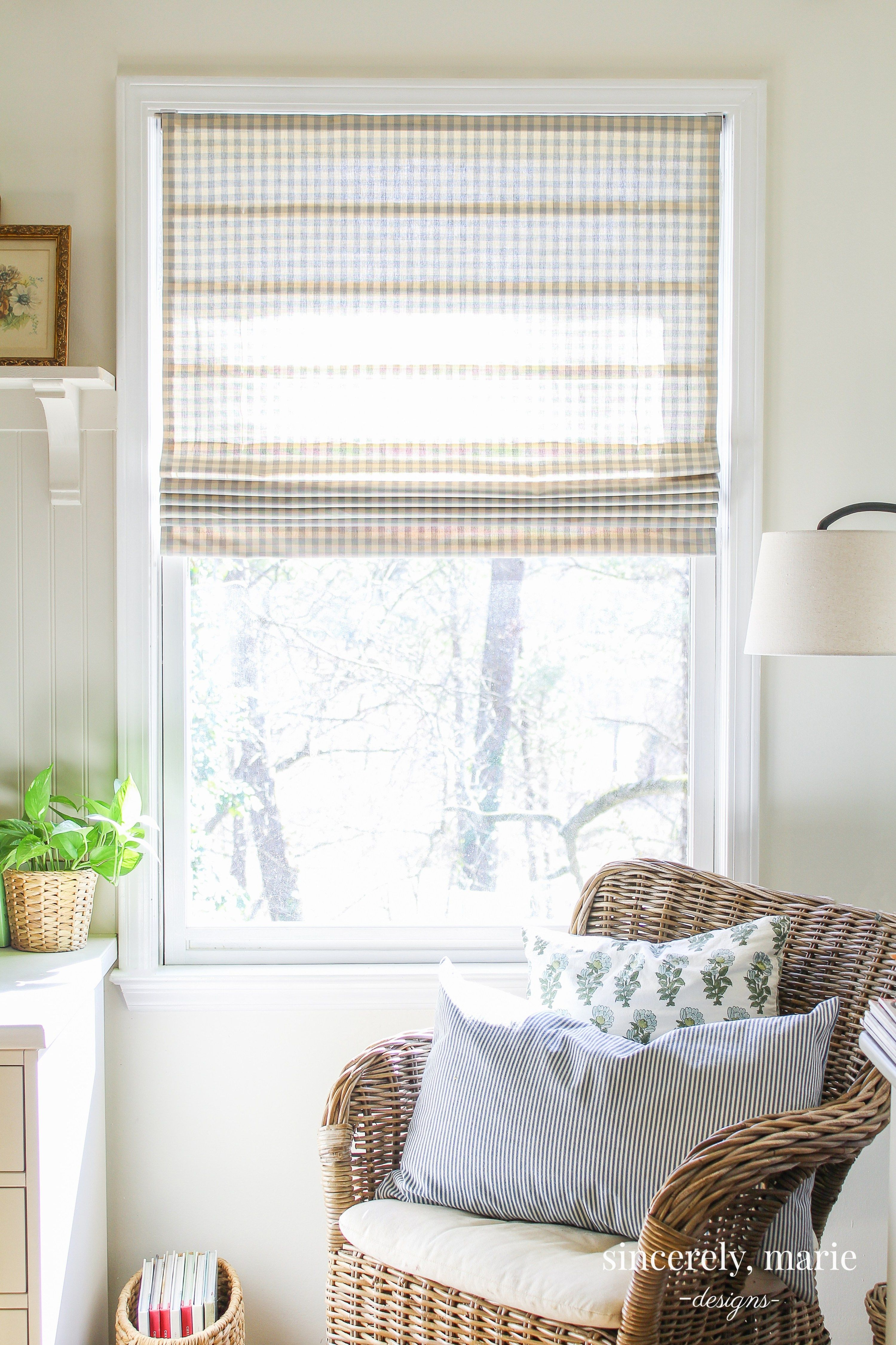 Easy DIY Roman Shade Diy roman shades, Decor, Home