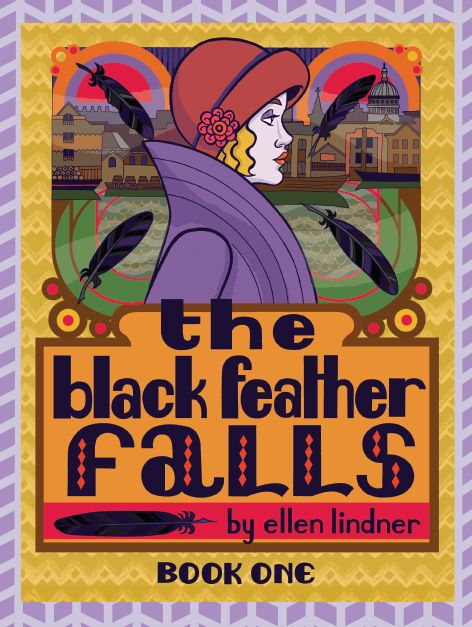 The Black Feather Fall by Ellen Lindner - 1920's London Murder Mystery Series