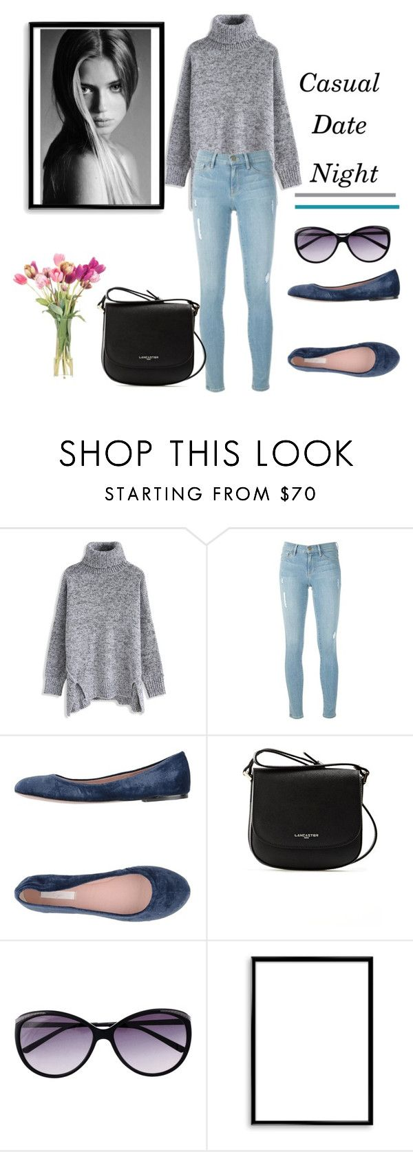 """Casual date night"" by krystalkm-7 ❤ liked on Polyvore featuring Chicwish, Frame, E-Gó, Lancaster, DUO, Bomedo and NDI"