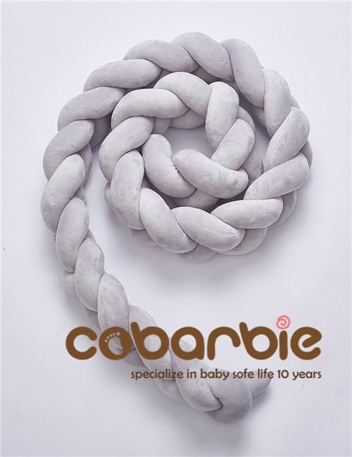 200 Cm Baby Braided Crib Bumpers Knot Pillow Cushion