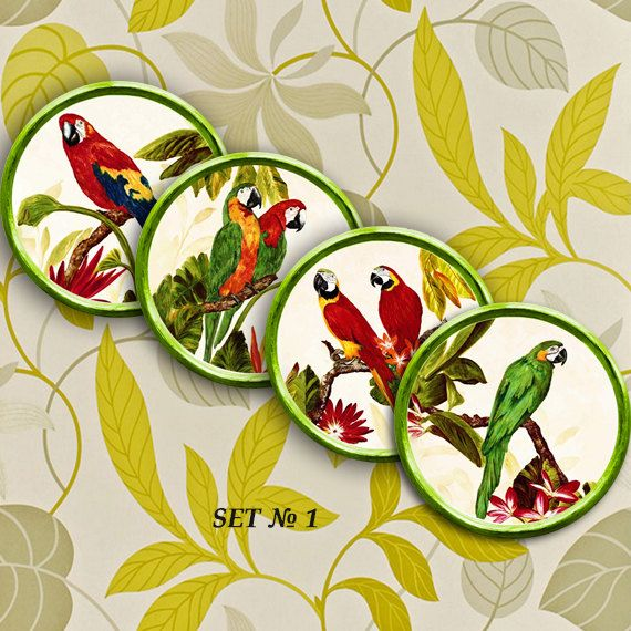 Wall decor 4 plates set \