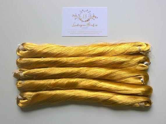 Japanese vintage rare silk thread embroidery Weaving 1197