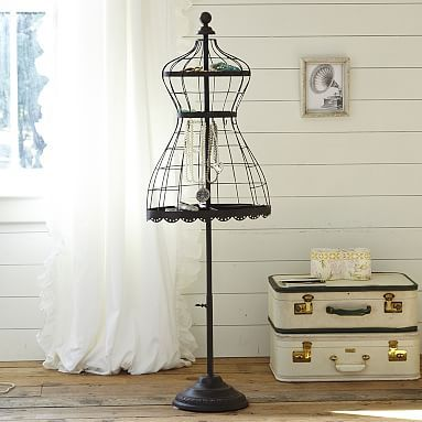I so want this for my room <3 Wrought Iron Jewelry Dress Form #pbteen